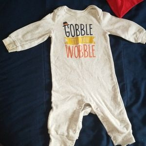 Thanksgiving jumpsuit for baby boy